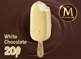 Magnum White Chocolate Glaces 120 ml -