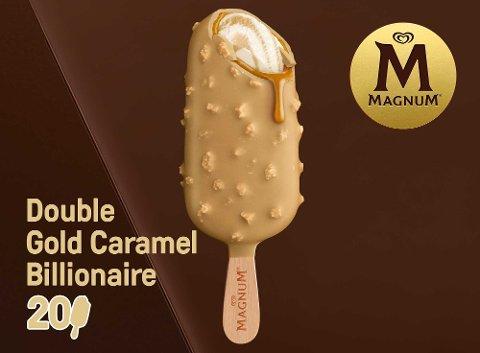 Magnum Double Gold Caramel Billionaire bâtonnets de glace 85ml -