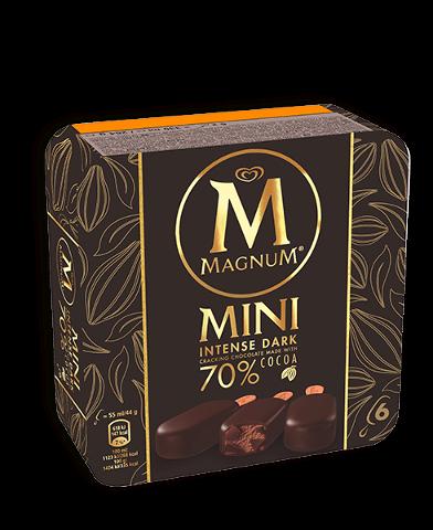 Magnum Mini Intense Dark bâtonnets de glace 6 x 55 ml -