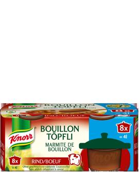 KNORR Marmite de bouillon bœuf emballage 8 x 1 pièce  4 l -