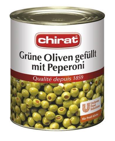 Chirat Olives vertes farcies aux piments 820 g -