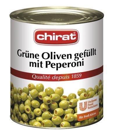 Chirat Olives vertes farcies aux piments 2,9 KG -