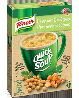 KNORR Quick Soup Pois avec croûtons 3 x 1 tasse -
