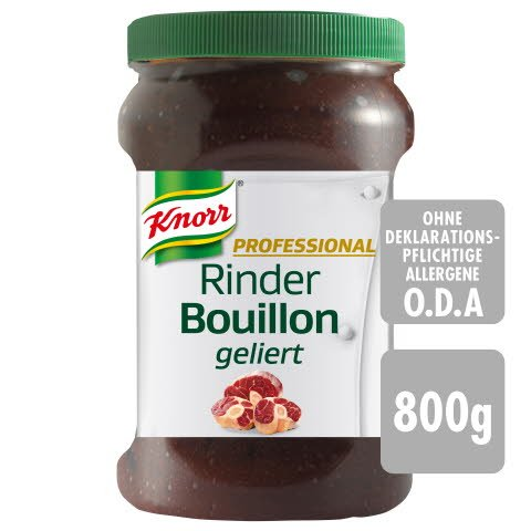 Knorr Professional Bouillon concentré de bœuf gelifié 800 g - Bouillons gélifiés KNORR PROFESSIONAL. Aussi bon que du fait maison.