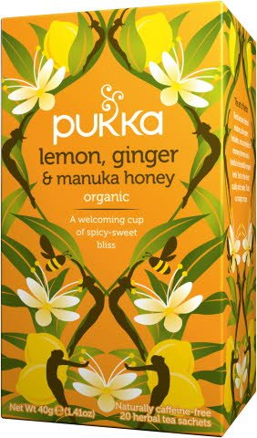 Pukka BIO Infusion Citron, Gingembre et Miel de Manuka 20 sachets -