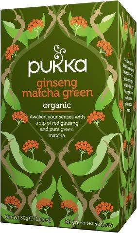 Pukka Biologique Thé Vert Matcha Ginseng 20 sachets -