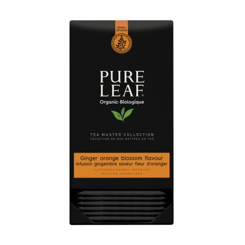 Pure Leaf biologique infusion orange blossom ginger 20 sachets pyramide -