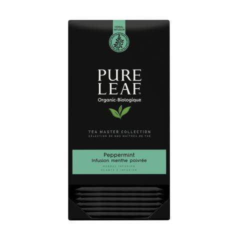 Pure Leaf  thé d'herbes menthe poivrée biologique 20 sachets pyramide -