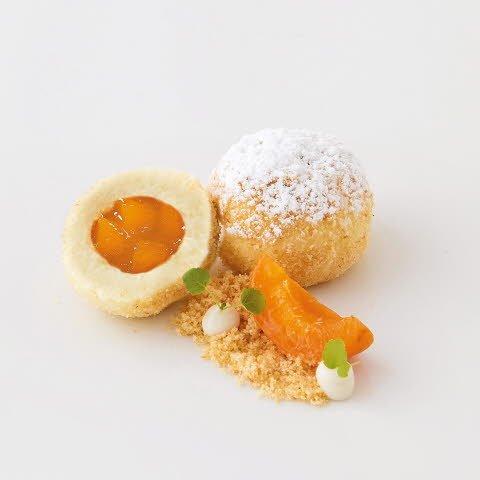 Caterline Quenelles au séré fourrées aux abricots – surgelé 1,5 KG (30 pièces à env. 50 g)