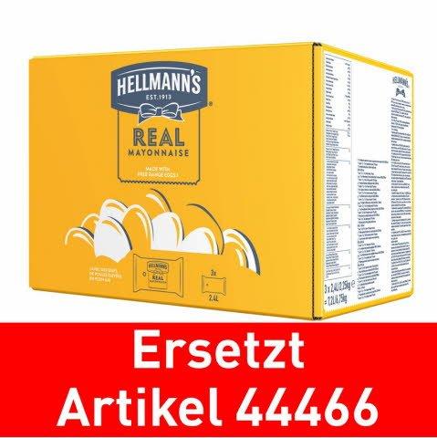 Hellmann's Mayonnaise - Poches pour Dispenser 3x2.25kg - remplace Mayonnaise de Knorr 3x2.2kg (44466)