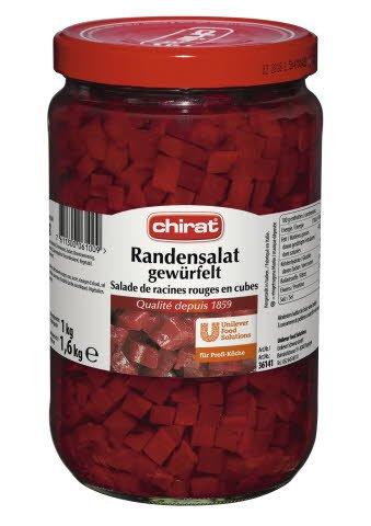 Chirat Salade de racines rouges en cubes 1,65 KG