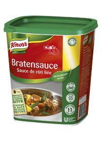 Knorr Sauce de rôti liée 1,1 KG - Sauce de rôti liée KNORR: un goût de viande authentique.