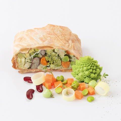 Caterline Strudel aux légumes végétalien 4,5 kg (30 x 150 g) -