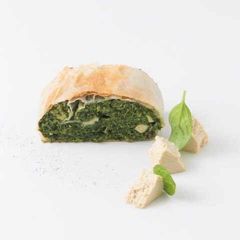 Caterline Strudels aux épinards avec tofu, végétalien 4,5 KG (30 pièces à env. 150 g) -