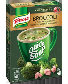 KNORR Quick Soup Suprême Brocoli à la crème fraîche et au jambon 3 x 1 tasse