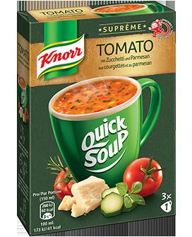 KNORR Suprême quick soup Tomato aux courgettes et au parmesan emballage 3 x 1 portion -