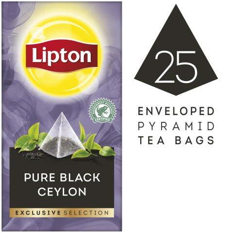 Lipton Ceylon Thé Noir Pyramid 25 sachets