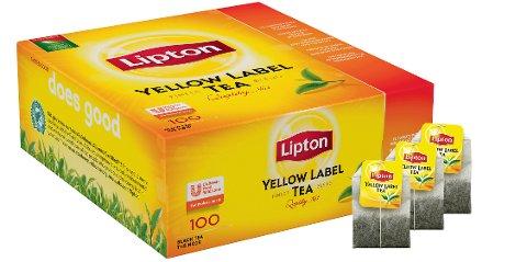 Thé noir Lipton Yellow Label sans enveloppe 1x 100 sachets -