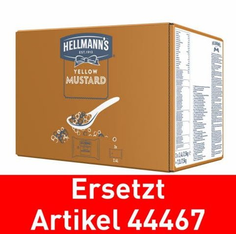 Hellmann's Yellow Mustard - Poches pour Dispenser 3x2.5kg -