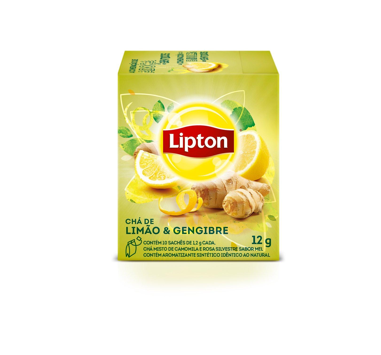 Chá Lipton - Limão e Gengibre