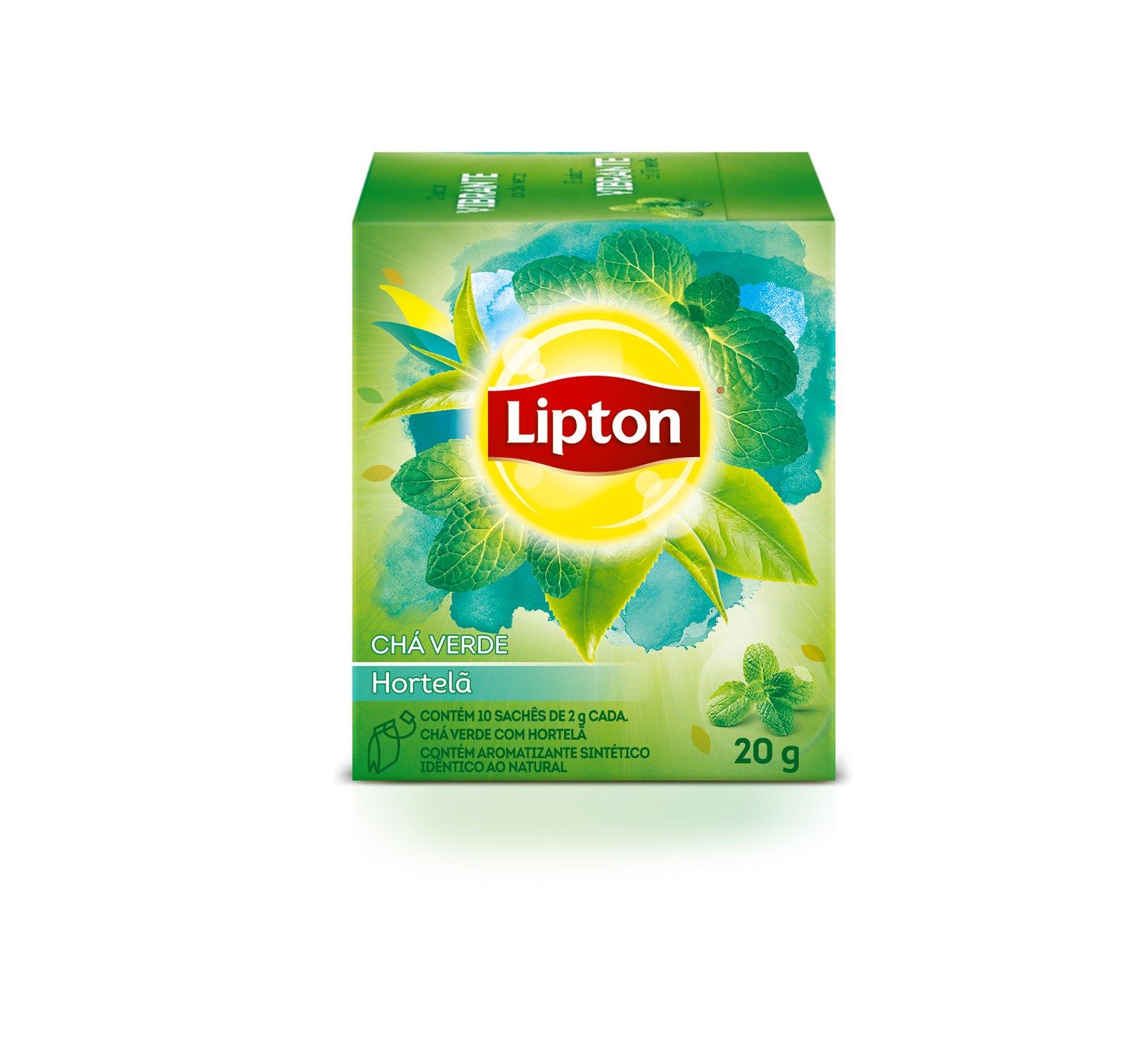 Chá Lipton Verde com Hortelã