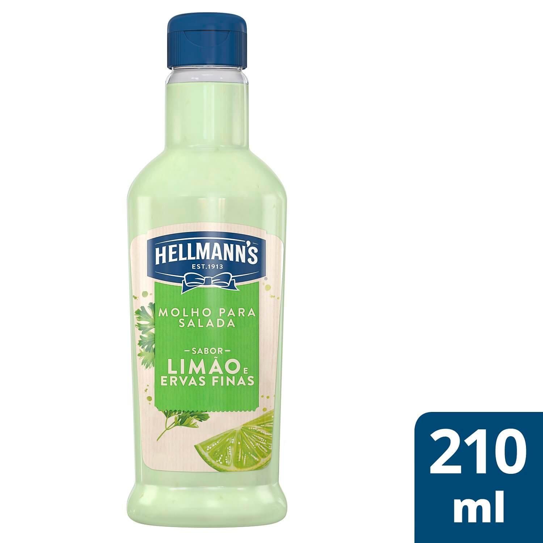 Molho para Salada Hellmann's Limão e Ervas Finas 210 ml -