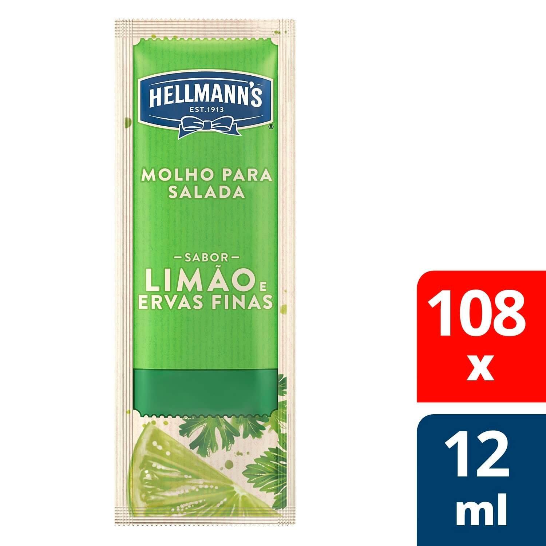 Molho para Salada Hellmann's Limão e Ervas Finas 12 ml