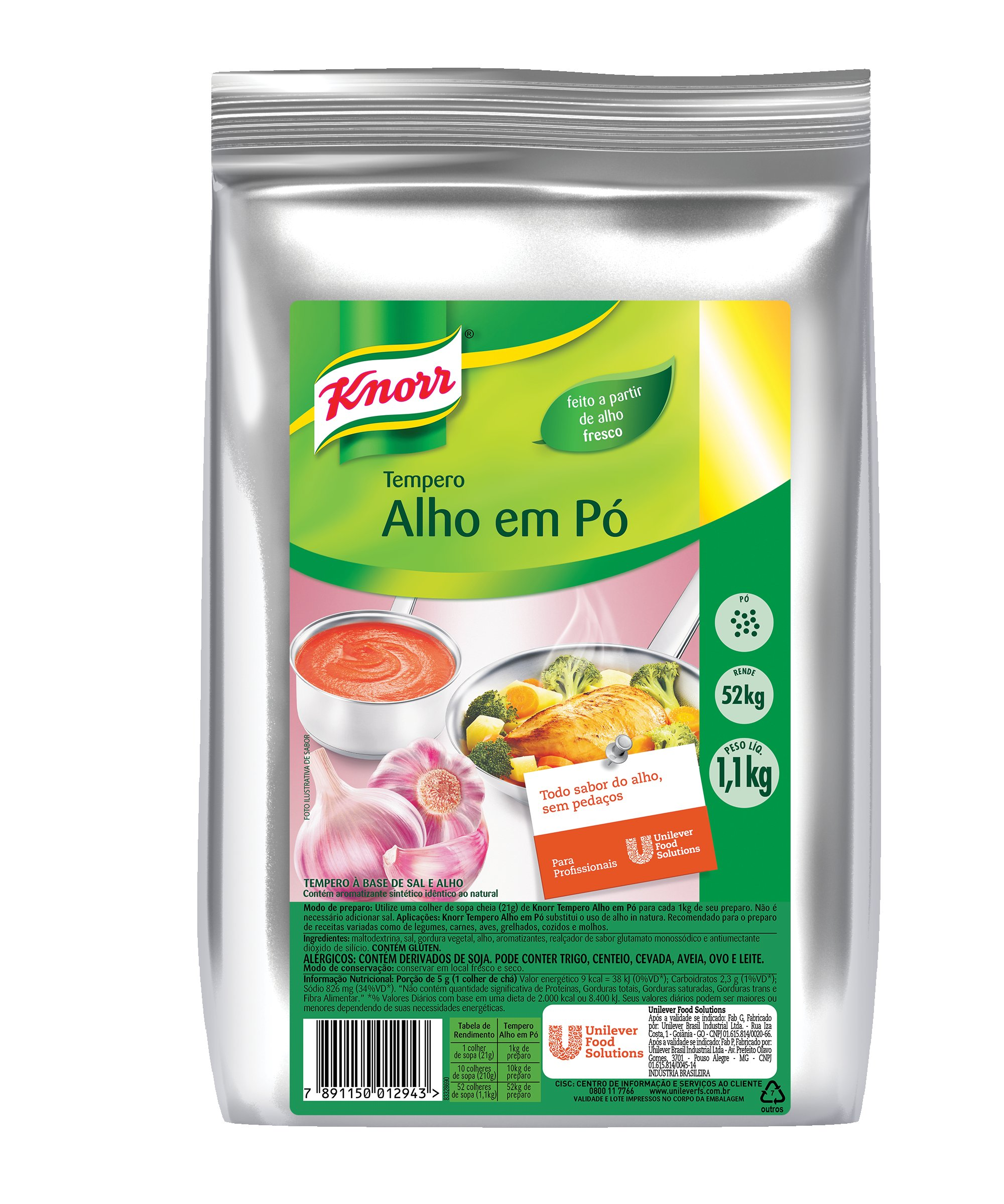 Tempero Alho em Pó Knorr 1,1 kg