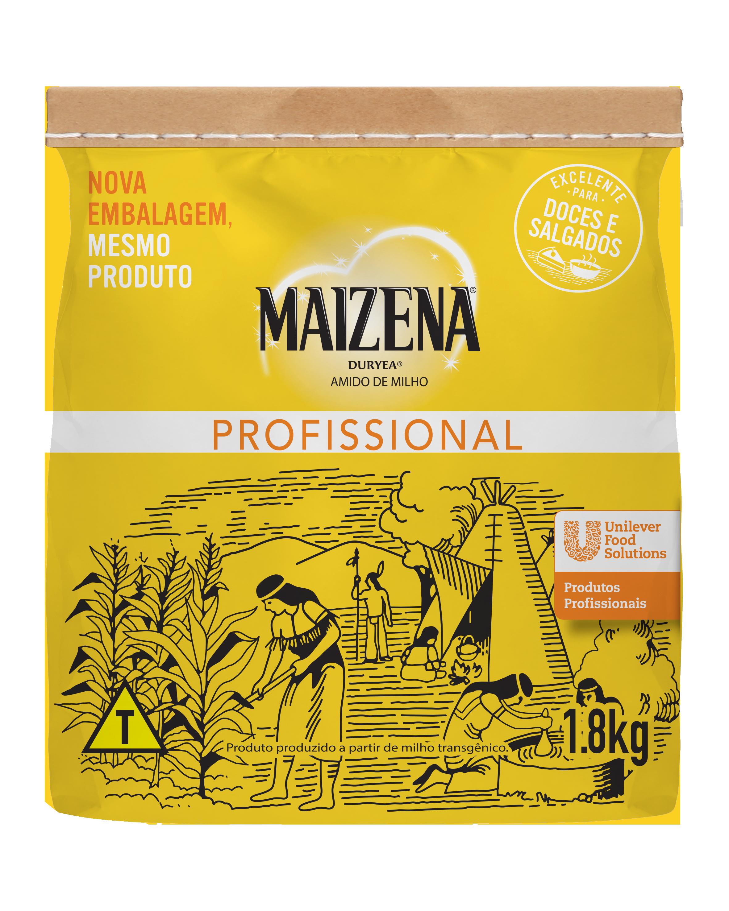 Amido de Milho Maizena 1,8 kg - Aqui está o produto que você já confia para preparar diferentes receitas.
