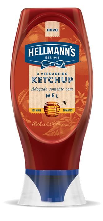 Ketchup Hellmann's adoçado com Mel