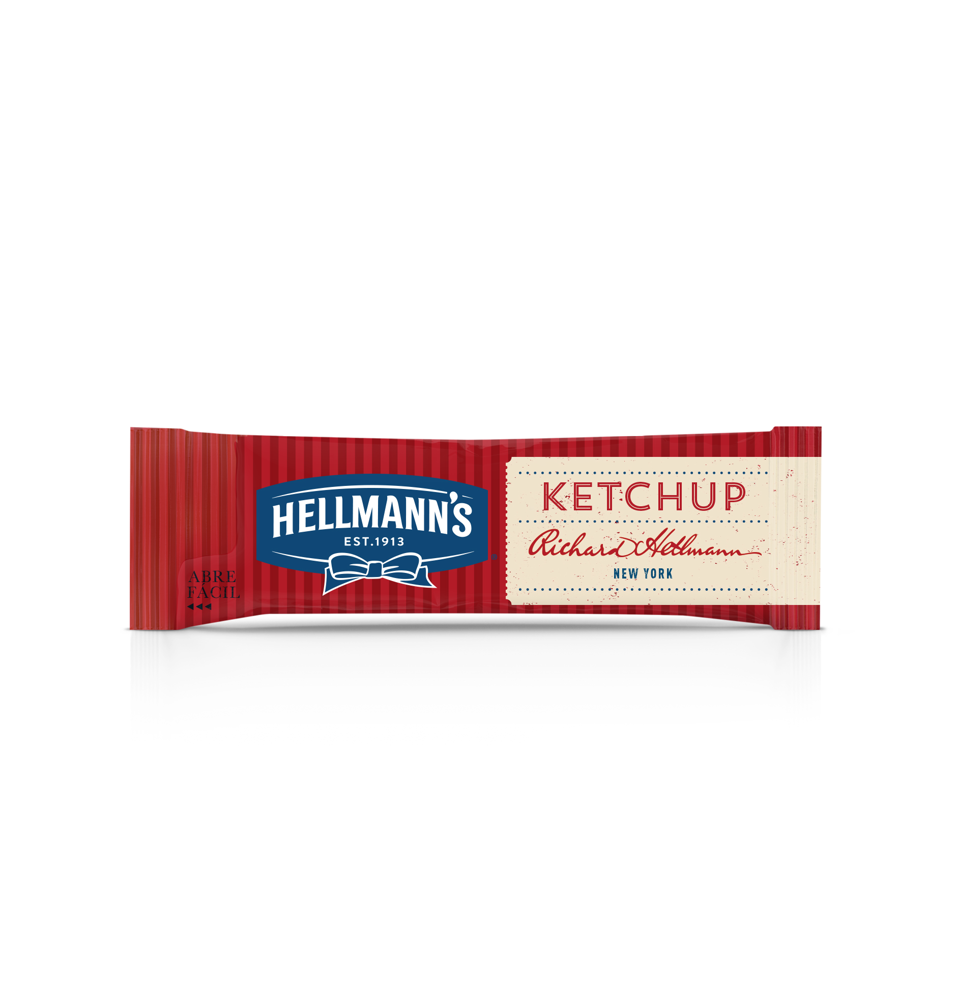 Ketchup Hellmann's - Sachê 'Abre Fácil' 10g - Novo sachê abre fácil: sem desperdício, sem sujeira.