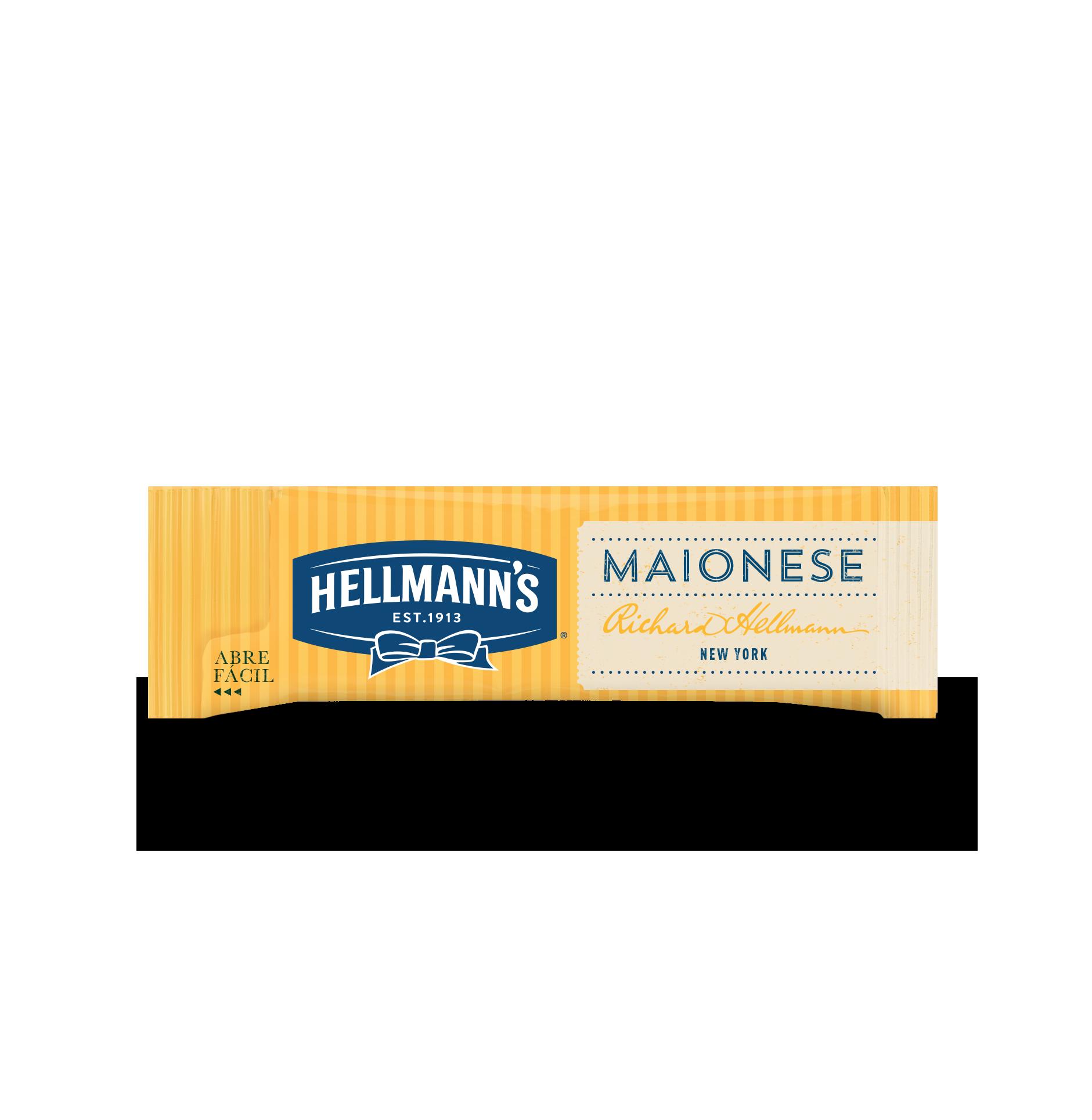 Maionese Hellmann's - Sachê 'Abre Fáci'l 10g - Novo sachê abre fácil: sem desperdício, sem sujeira