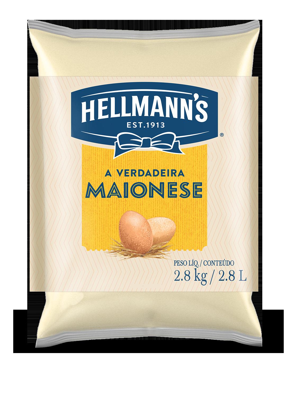 Maionese Hellmann's Saco 2,8 kg - Hellmann's dá um sabor especial aos seus pratos e melhora a imagem do seu restaurante.