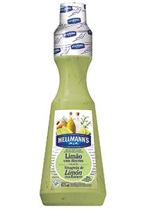Molho para Salada Hellmann's Limão 475 mL - Hellmann's dá um sabor especial aos seus pratos e melhora a imagem do seu restaurante.