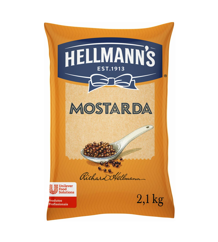 Mostarda Hellmann's Saco 2,1 kg - Mostarda Hellmann's 2,1 kg