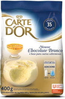 Mousse de Chocolate Branco Carte D´Or 400g