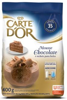 Mousse de Chocolate Carte D'Or 400g - Nova linha de sobremesas carte D'Or: a única que faz sobremesas com água ou leite.