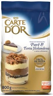 Pavê & Torta Holandesa Carte D'Or 800g - Nova linha Carte D'Or: a única que faz sobremesas com água ou leite.