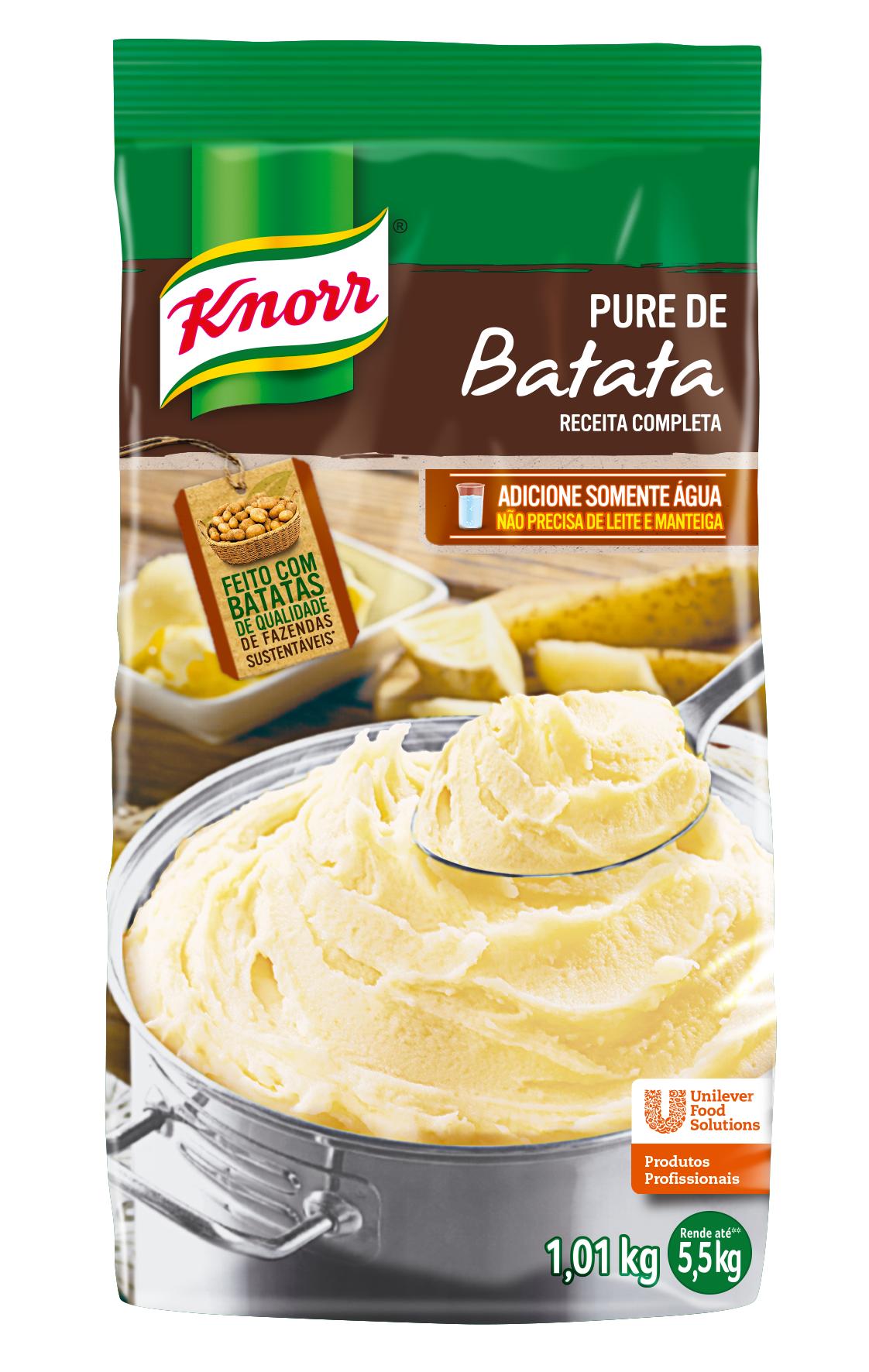 Purê de Batatas Knorr 1,01 kg - Faça todas elas com Purê de Batatas Knorr em muito menos tempo.