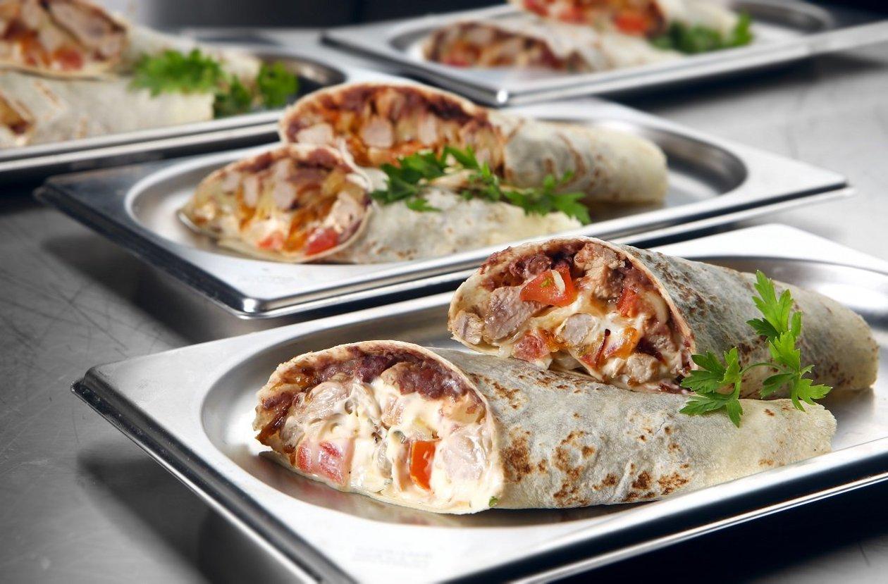 Burrito de Fajitas com Maionese de Jalapeño