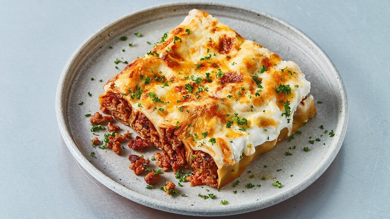 Cannelloni Bolonhesa The Vegetarian Butcher