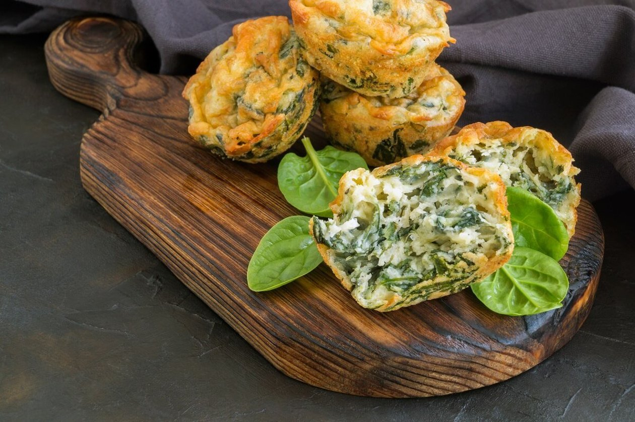 Muffin de Frango com Espinafre