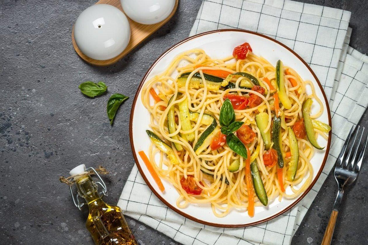 Spaghetti com Legumes e Gengibre