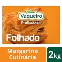Vaqueiro Profissional margarina culinária Folhado 2 Kg
