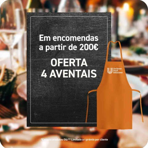 4 x Avental Laranja -