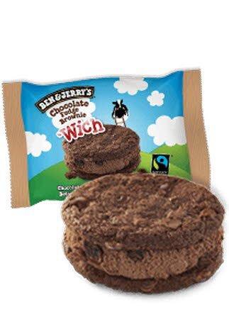 Ben & Jerry Wich Cookie Chocolate Fudge Brownie -