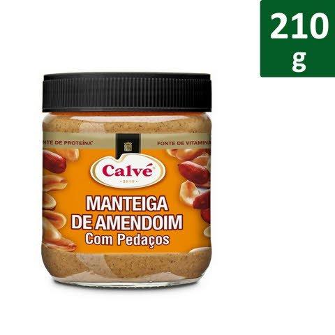 Calvé Manteiga de Amendoim Pedaços 210 Gr -