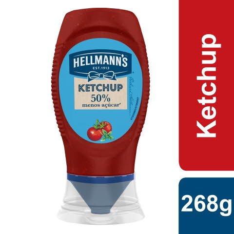 Hellmann's Ketchup -50% Açúcar Top Down 268gr -