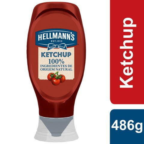 Hellmann's Ketchup Top Down Pure 100% 486 Gr -
