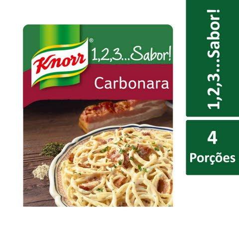Knorr 1,2,3… Sabor! Esparguete à Carbonara -